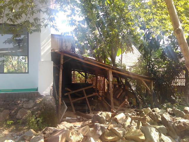 Rencana lokasi pembangunan tempat kamar mandi, wc dan tempat wudhu' serta pagar Pondok