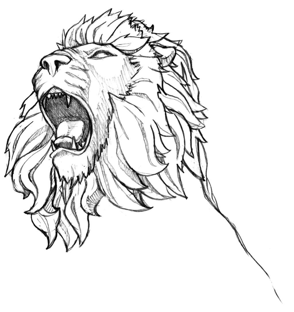 Gambar Sketsa Harimau Hitam Putih