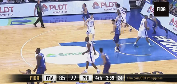 HIGHLIGHTS: Gilas Pilipinas vs. France (VIDEO) 2016 FIBA OQT in Manila