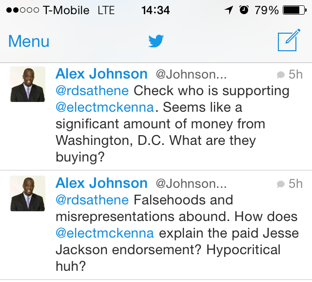 Alex Johnson's latest lie libels Rev. Jesse Jackson, Congresswoman Maxine Waters, and Dr. George McKenna