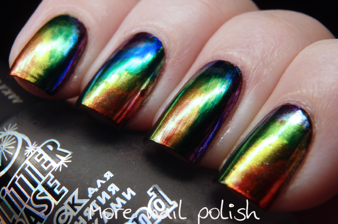 31DC2016 - Metallic - Oil slick nails ~ More Nail Polish