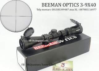 jual scope beeman optics 3-9x40 murah tanpa lampu