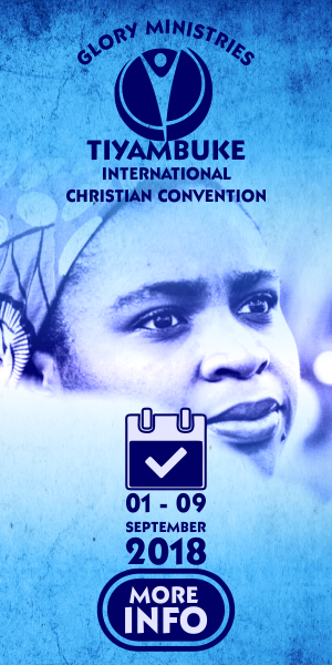 Glory Conferences Includes Tiyambuke International Christian Convention, His Glory Men's Conference, Mega Kidz Conference and Her Glory Women's Conference.