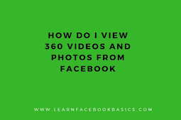 How do I view 360 videos and photos from Facebook