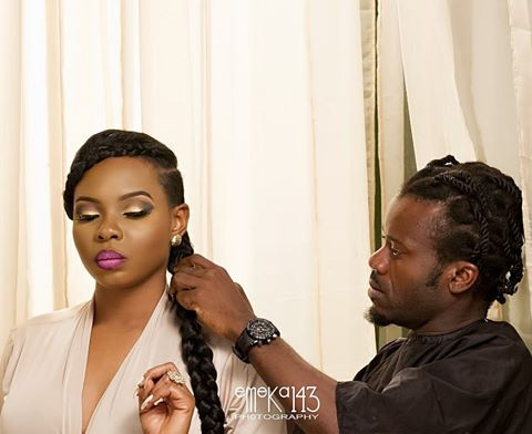 Meet Yemi Alade's hair dresser.