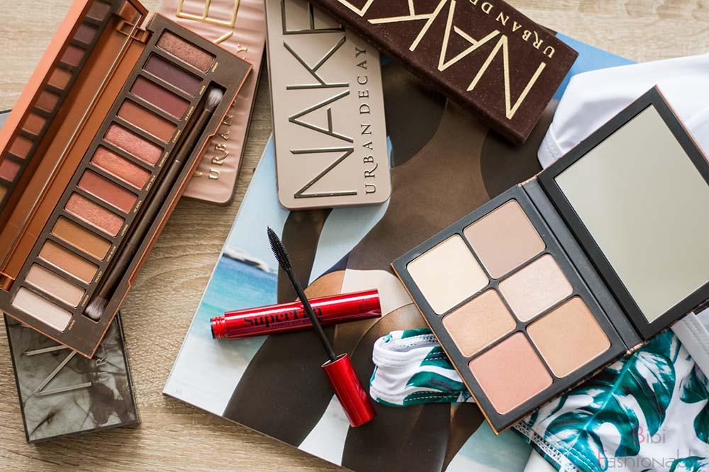 Top 3 Urlaub Make-Up Essentials Flatlay