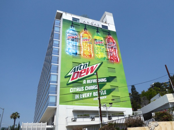 Giant Mountain Dew citrus charge billboard
