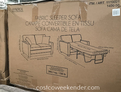 Synergy Home Fabric Sleeper Sofa: great for any living room or family room