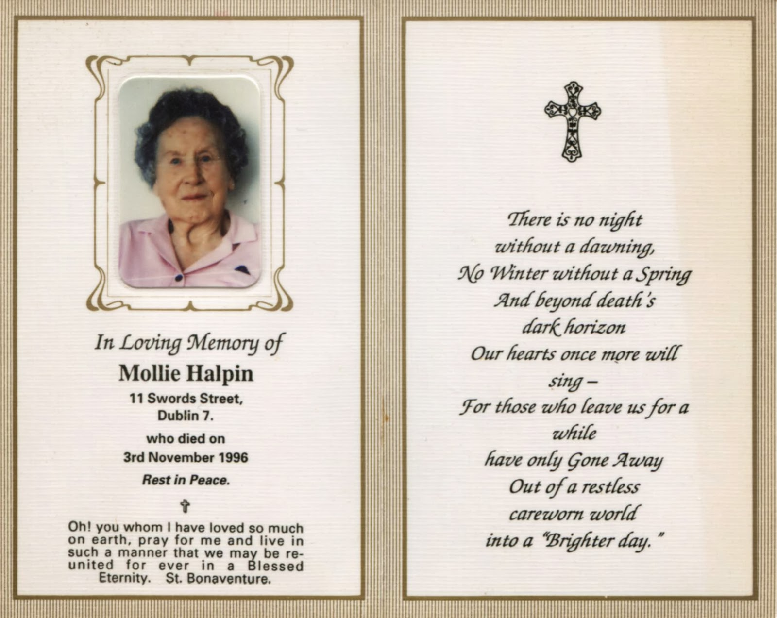 in memoriam cards template - in memoriam quotes for mother quotesgram