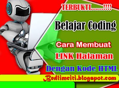 Belajar Coding Cara  Membuat Link Halaman Dengan Kode HTML
