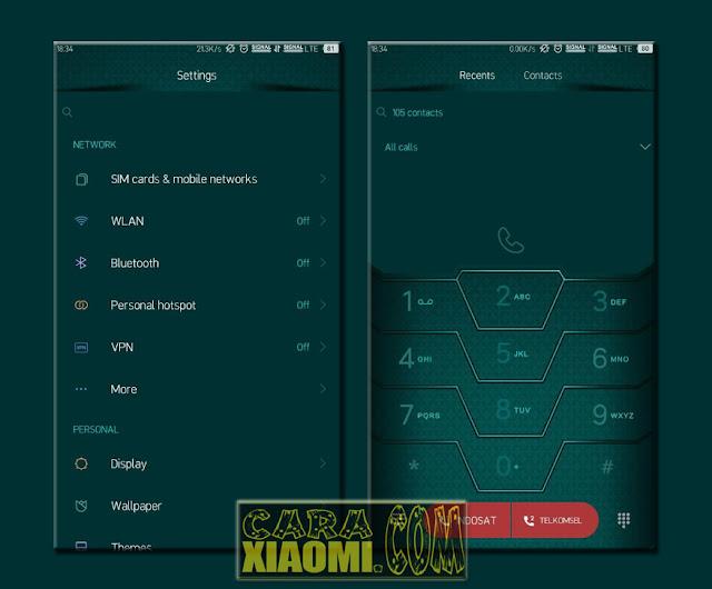 Download Tema NU Material Teal Mtz v2.0.2 For Xiaomi Miui