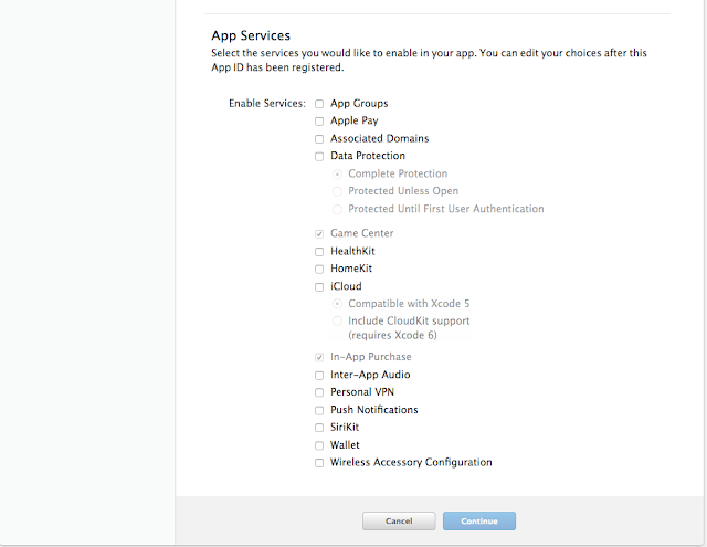 Enable app services offered by your app