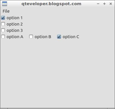 Qteveloper: QtQuick Controls examples - single selectable