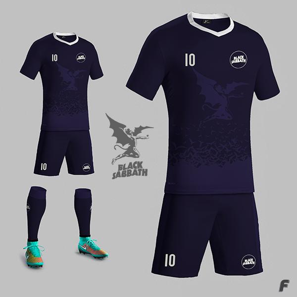 Designer cria camisas de futebol para bandas de rock - Show de Camisas 0e57229982408