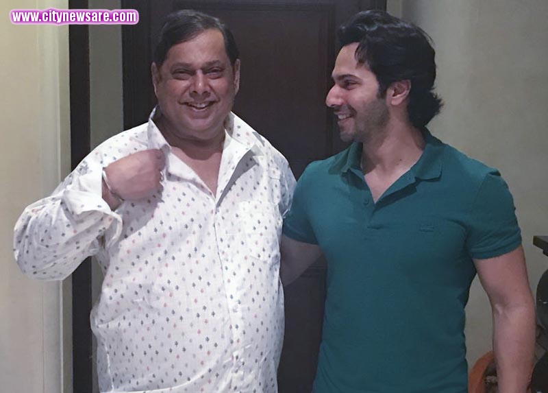 Varun Dhawan with his Dad David Dhawan