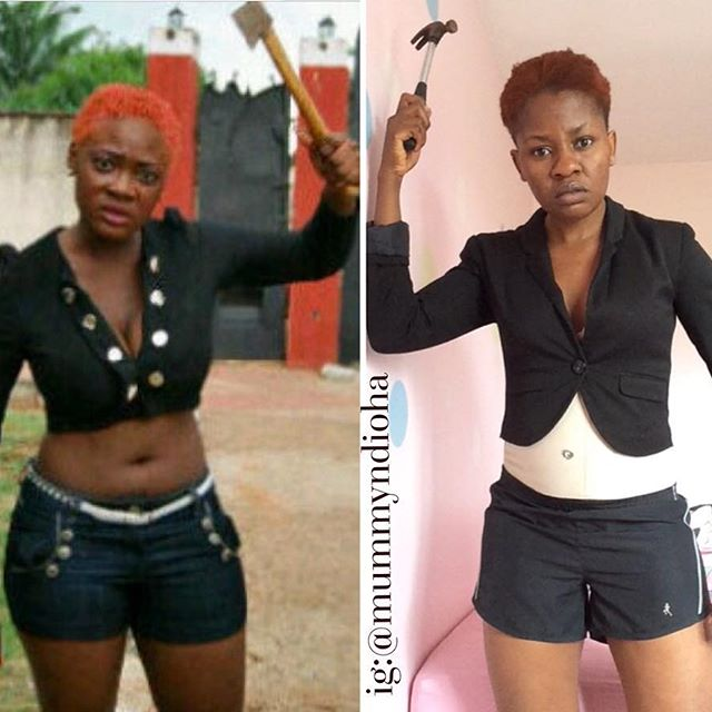 Nigerian Lady Recreates Mercy Johnson, Genevieve Nnaji