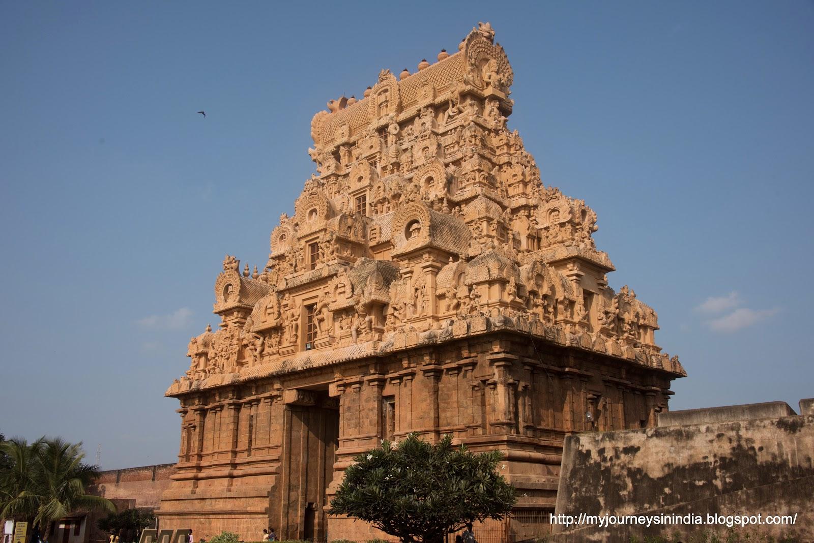 Thanjavur Brihadeeswarar Temple Entrance Tower