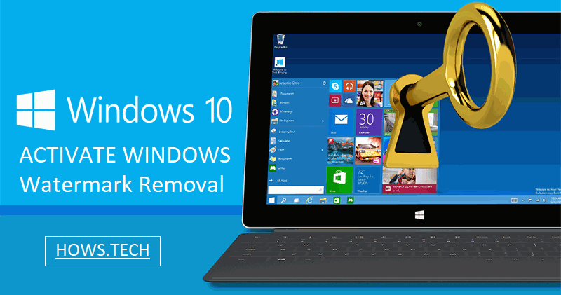 how to remove windows 10 watermark 2017