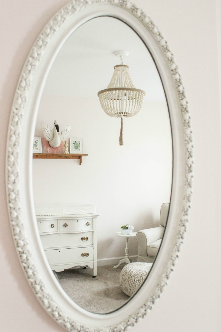 antique mirror girl nursery