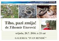 Dr. Tihomir Eterović predavanje otrovne zmije Supetar slike otok Brač Online