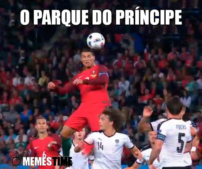 Meme Cristiano Ronaldo –O Parque do príncipe
