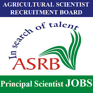 Agricultural Scientists Recruitment Board, ASRB,Principal Scientist, New Delhi, Post Graduation, freejobalert, Sarkari Naukri, Latest Jobs, asrb logo