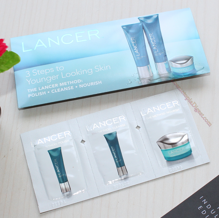 Lancer skincare samples.