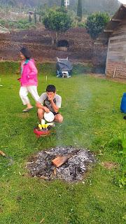 tempat api unggun homestay pinus