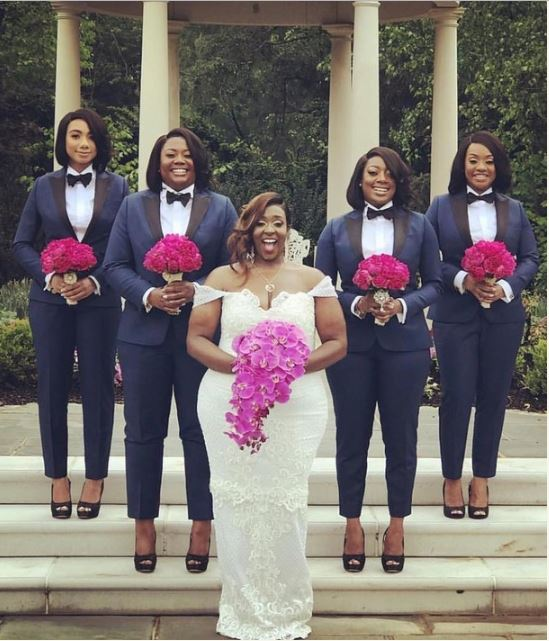 Beautiful Photo Of Bridesmaids In Suit