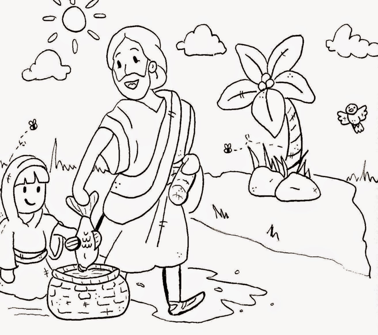 sunday school coloring page - sunday school coloring pages free coloring sheet