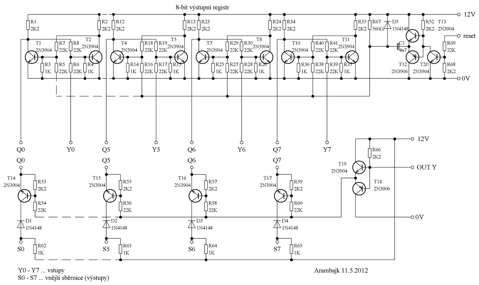 My Ideas Tranzistorova Aritmeticko Logicka Jednotka