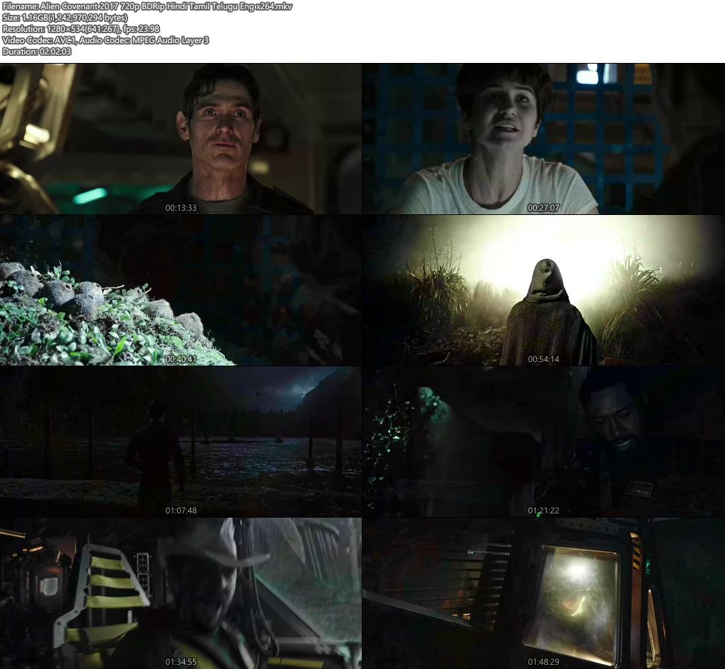 Alien Covenant 2017 720p BDRip Hindi Tamil Telugu Eng | 480p 300MB | 100MB HEVC Screenshot