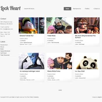 Lock Heart blogger template. photography blogger template