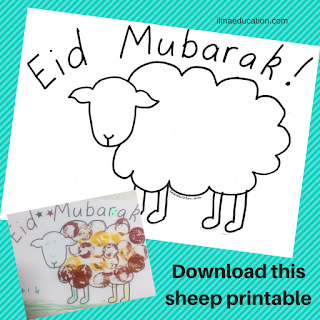 Download free sheep printable
