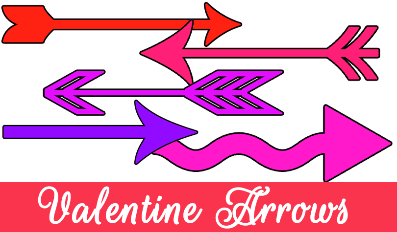 Freebie Valentine Arrows Clipart