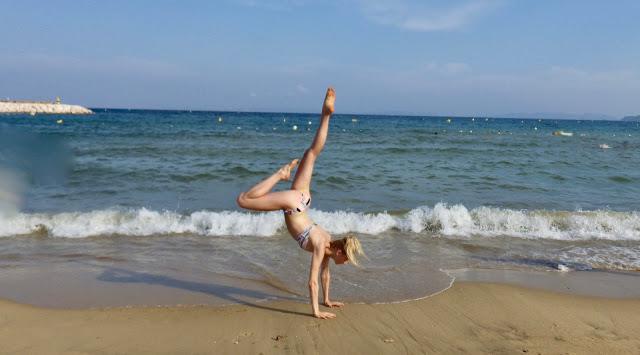 Côte d'Azur: Le Lavandou plage yoga