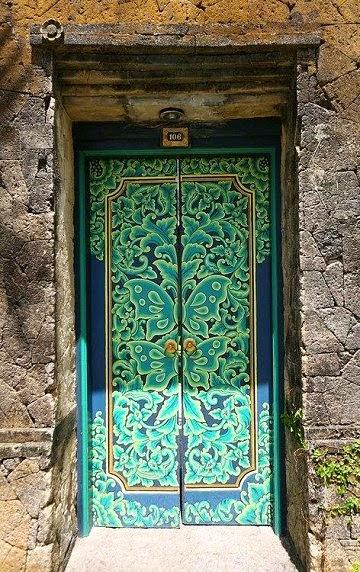 beautiful mozaic violet painting interior doors | Dishfunctional Designs: Beautiful Unique Painted Doors ...