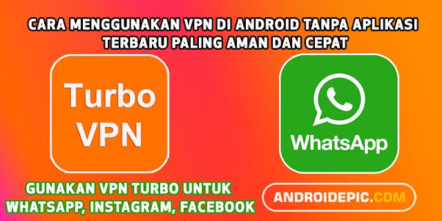 VPN digunakan untuk membuka jaringan internet android publik VPN sangat berguna untuk membuka whatsapp, instagram dan beberapa sosial media saat sedang down.