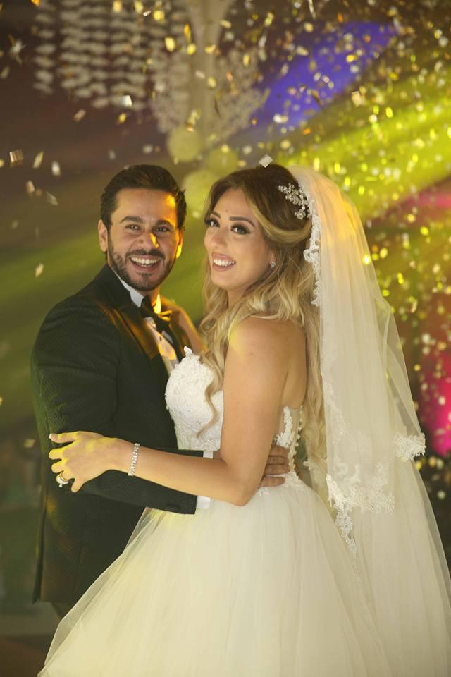 """الليثي. وهدي يتألقون في حفل زفاف الفنان""""محمد خطاب وزوجته """"ريهام شماره"""""""