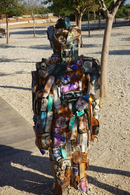 פסל סביבתי בפארק אריאל שרון