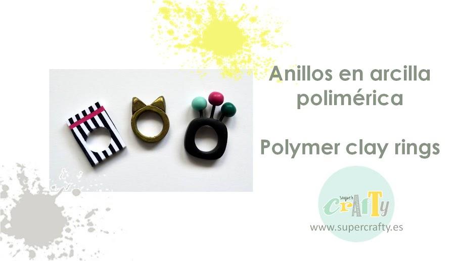 anillos en arcilla polimérica