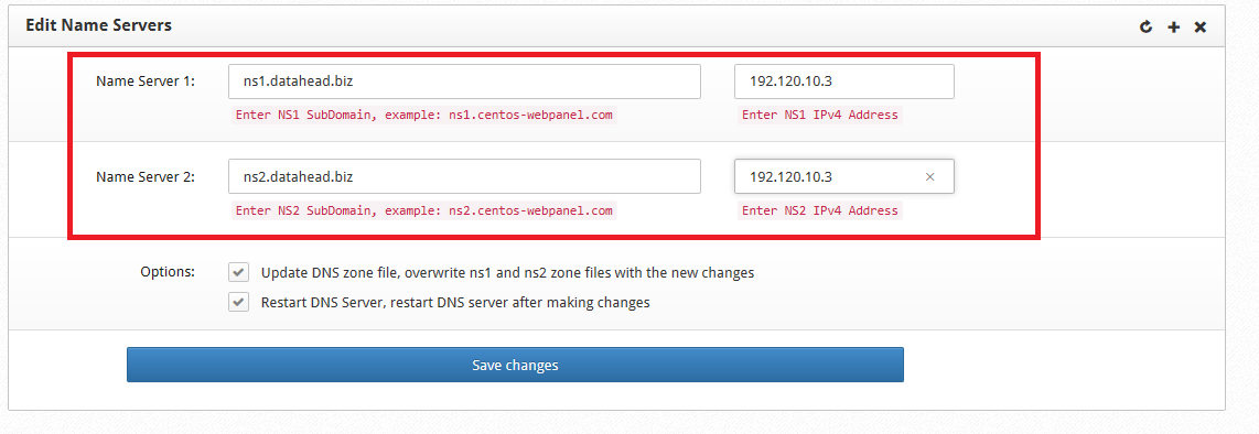CWP DNS Part 1 : How to Configure DNS properly for CentOS