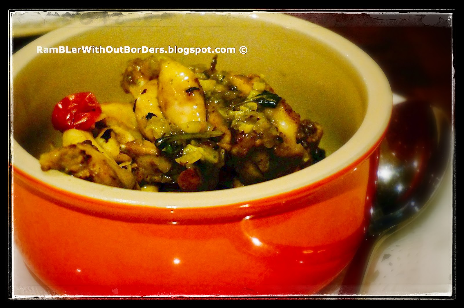 pan-fried frog legs, Toots Brasserie, Singapore