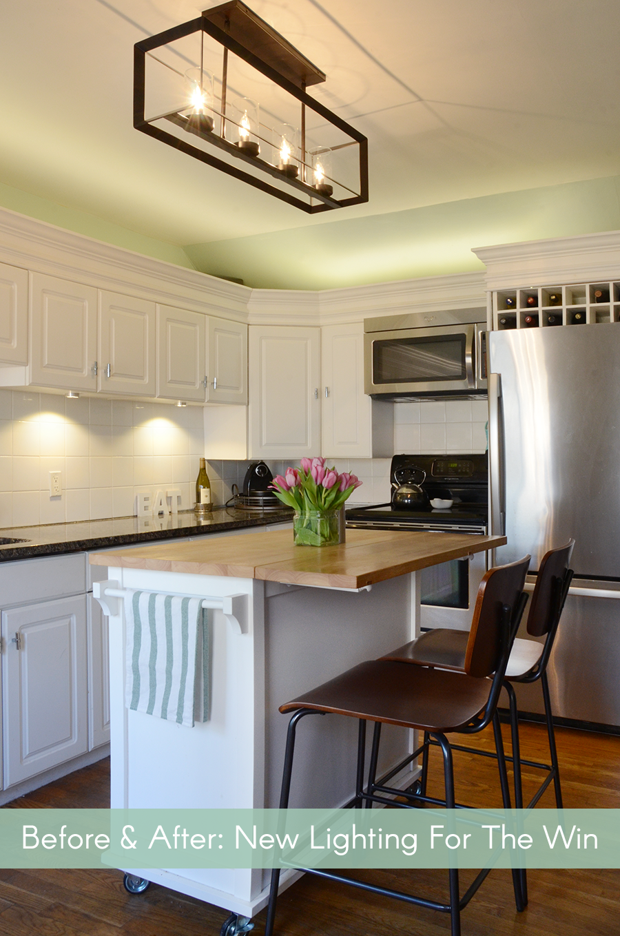 Before U0026 After: New Kitchen Lighting For The Win /// By Design Fixation