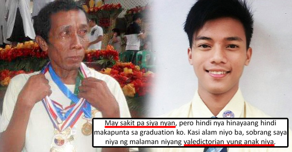 As He Graduates From College, Student Proudly Shared The Photo Of His Late Father Wearing His Medals As A Valedictorian In High School!