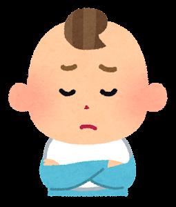 赤ちゃんの表情のイラスト(男・困った顔)