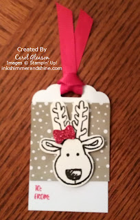 Photo of the Reindeer gift tag
