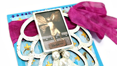 Believe Wings Plaque Closeup by Dana Tatar for Tando Creative