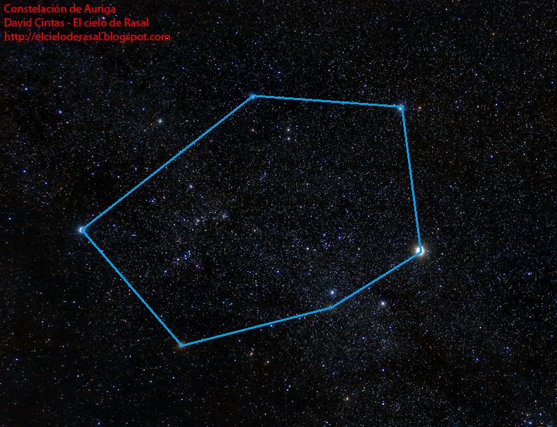 Auriga mitologia constelacion - El cielo de Rasal