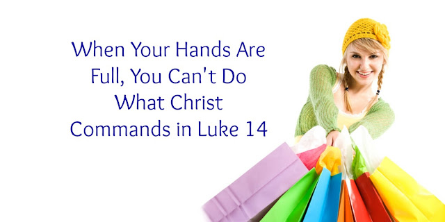 You Can't Take Up Your Cross When Your Hands Are Already Full